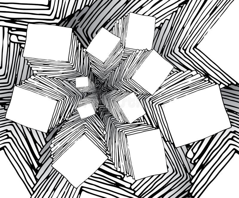 El fractal extraño de la historieta le gusta el fondo ilustración del vector