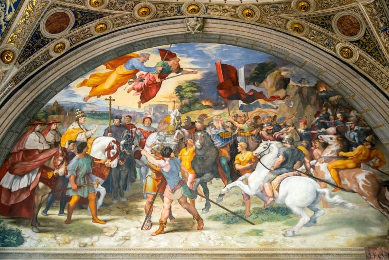 El fresco del siglo XVI en el museo del Vaticano fotografía de archivo libre de regalías