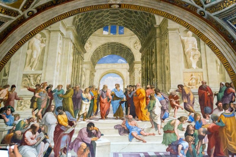 El fresco del siglo XVI en el museo del Vaticano imagen de archivo