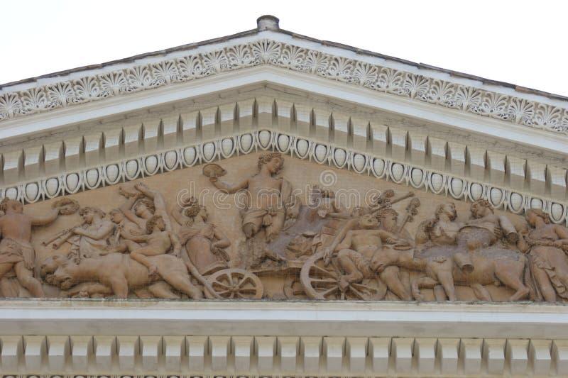 El frontón de Ellenistic en Roma aisló imágenes de archivo libres de regalías