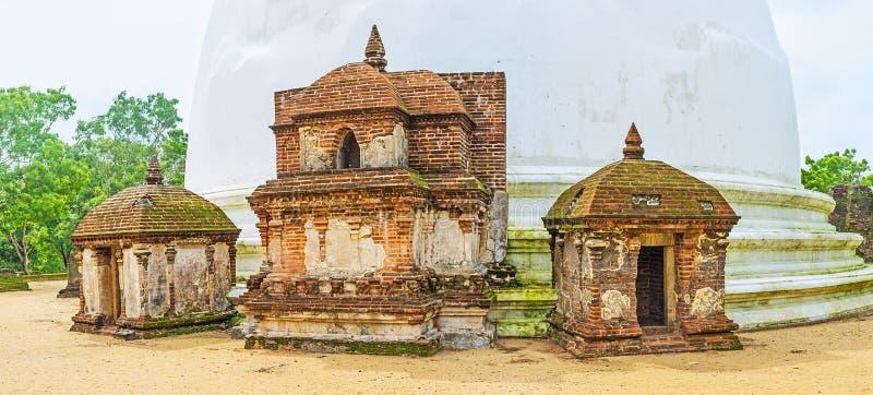 El frontispicio de Kiri Vihara imágenes de archivo libres de regalías