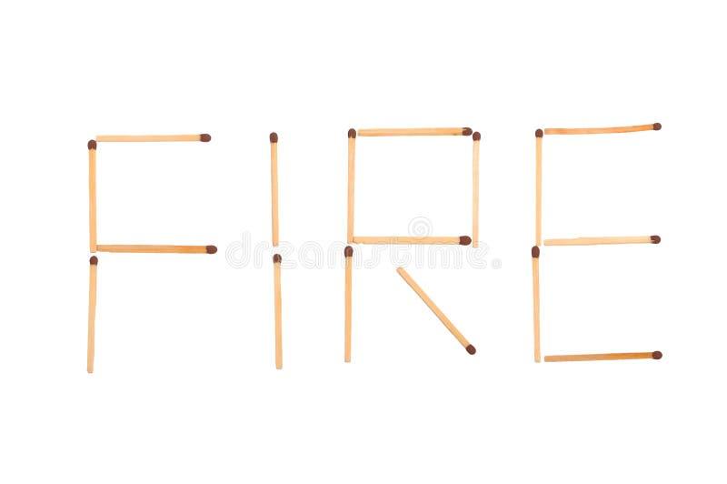 El fuego de la palabra hecho de emparejamientos fotos de archivo
