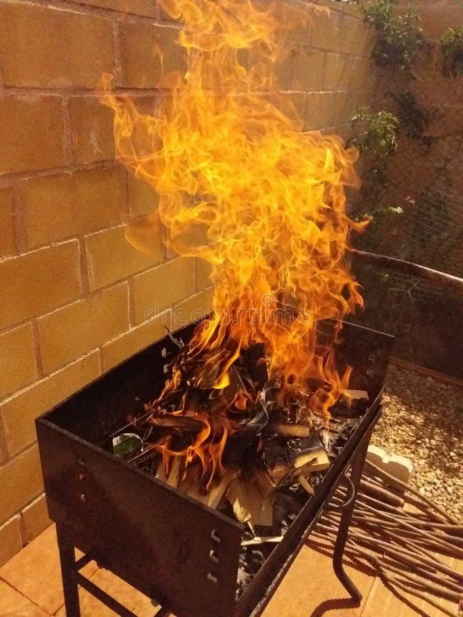 El fuego es impresionante fotografía de archivo libre de regalías