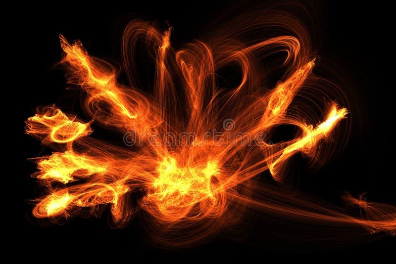El fuego flamea efecto especial imagen de archivo