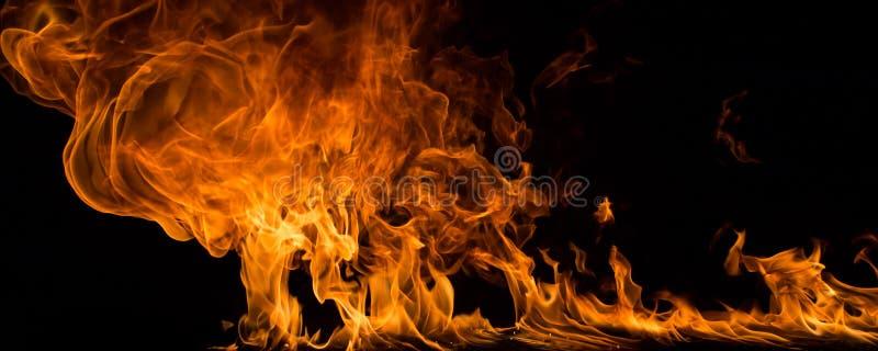 El fuego flamea el fondo imagen de archivo libre de regalías