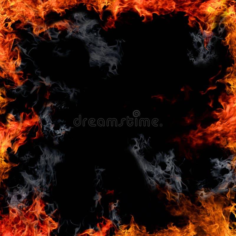 El fuego flamea la frontera imagenes de archivo