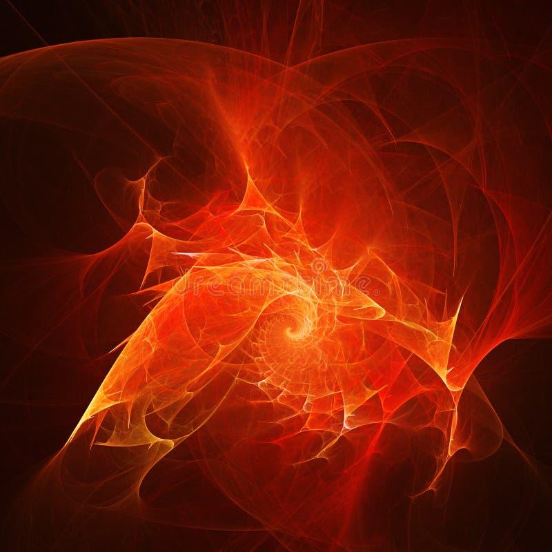 El fuego irradia el viento libre illustration