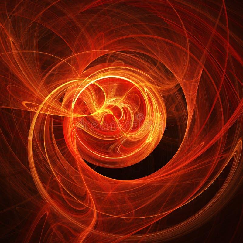 El fuego irradia giro ilustración del vector