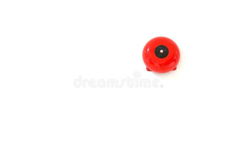 El fuego rojo de la alarma del zumbador, suena la alarma de la alarma en el edificio imagenes de archivo