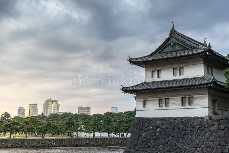 El fuerte del estilo japonés situado en el palacio imperial Tokio foto de archivo libre de regalías
