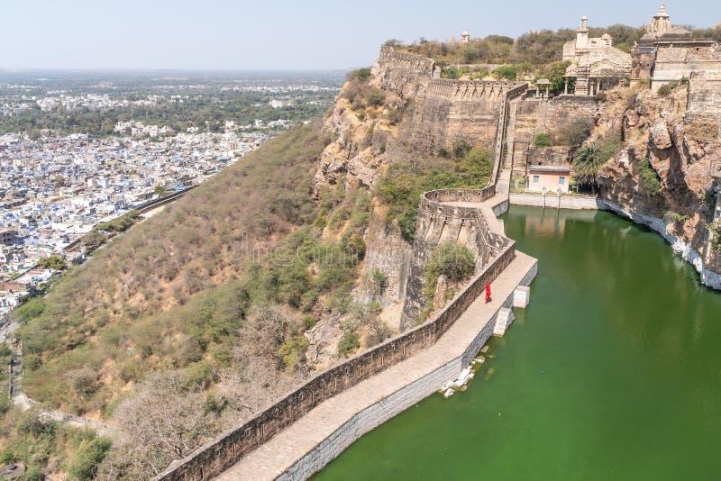 El fuerte viejo del chitargarh en la India fotografía de archivo libre de regalías