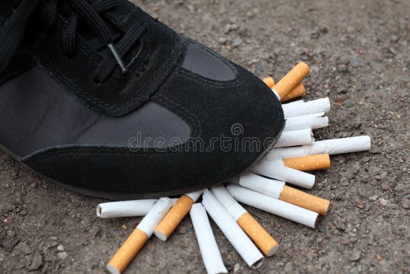 ¡El fumar Quit! foto de archivo