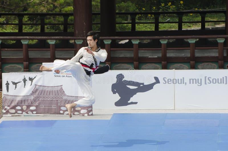 Download El Funcionamiento Del Arte Marcial Y El Evento Coreanos Tradicionales De La Experiencia Muestran Fotografía editorial - Imagen de acontecimiento, funcionamiento: 41919672