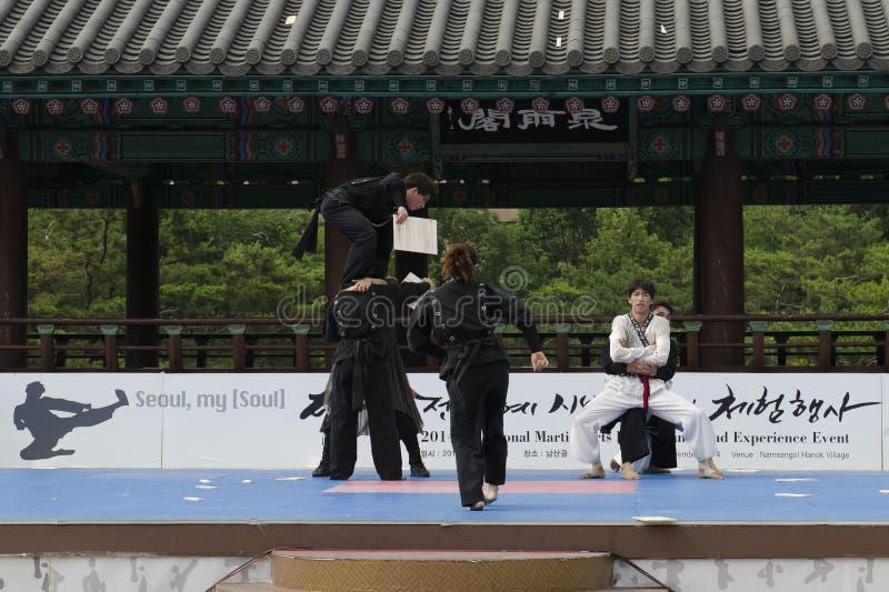 Download El Funcionamiento Del Arte Marcial Y El Evento Coreanos Tradicionales De La Experiencia Muestran Imagen de archivo editorial - Imagen de demostración, asia: 41919729