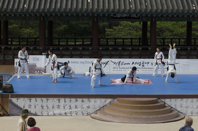 Download El Funcionamiento Del Arte Marcial Y El Evento Coreanos Tradicionales De La Experiencia Muestran Fotografía editorial - Imagen de demostración, gente: 41919802