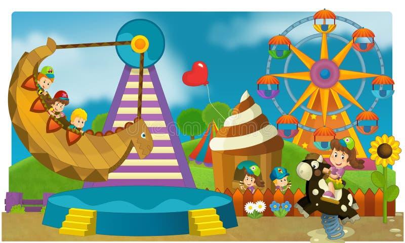 El funfair - patio para los niños ilustración del vector