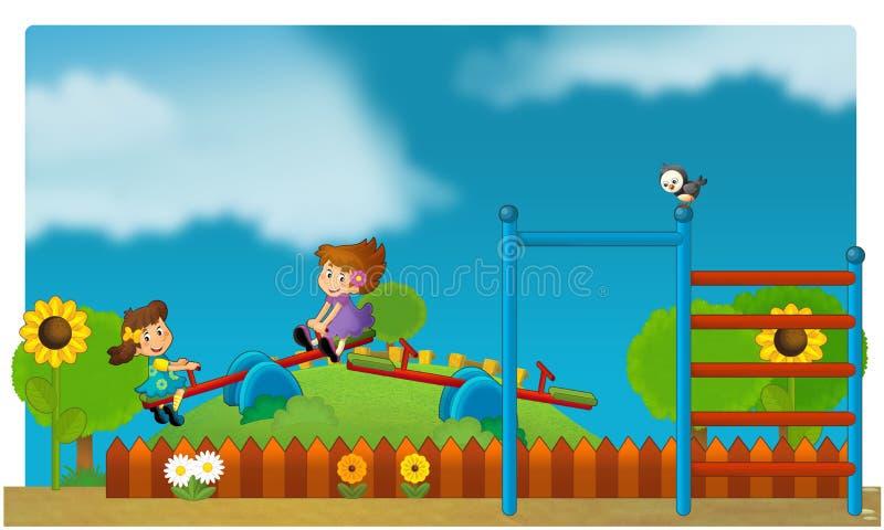 El funfair - patio para los niños stock de ilustración