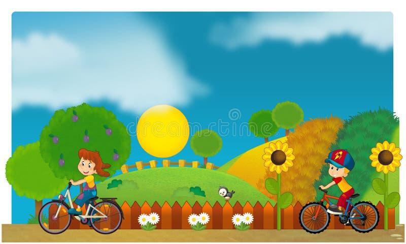 El funfair - patio para los niños libre illustration