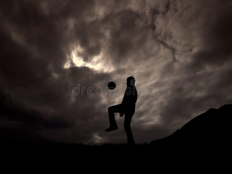 El futbolista imagen de archivo