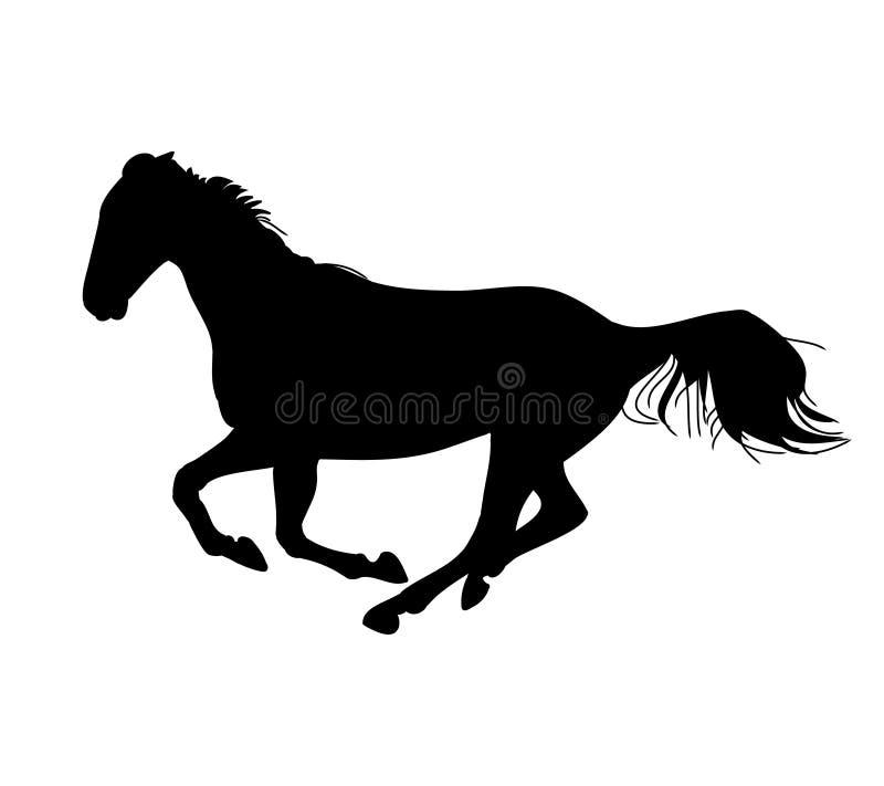 El galope del caballo 0 (silueta) ilustración del vector