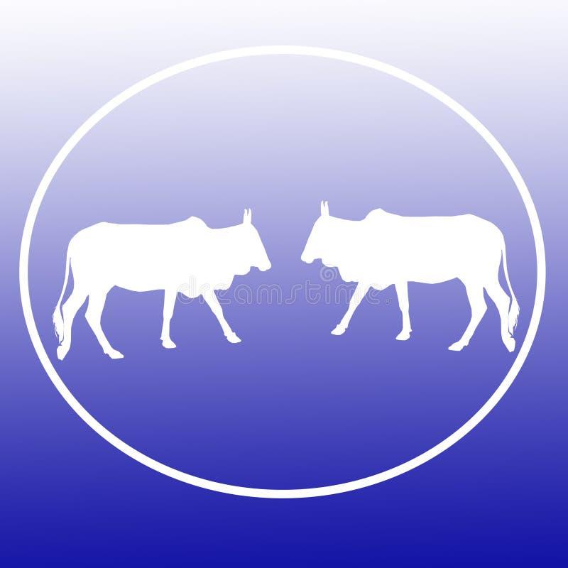 El ganado nacional acobarda a Logo Background Banner stock de ilustración