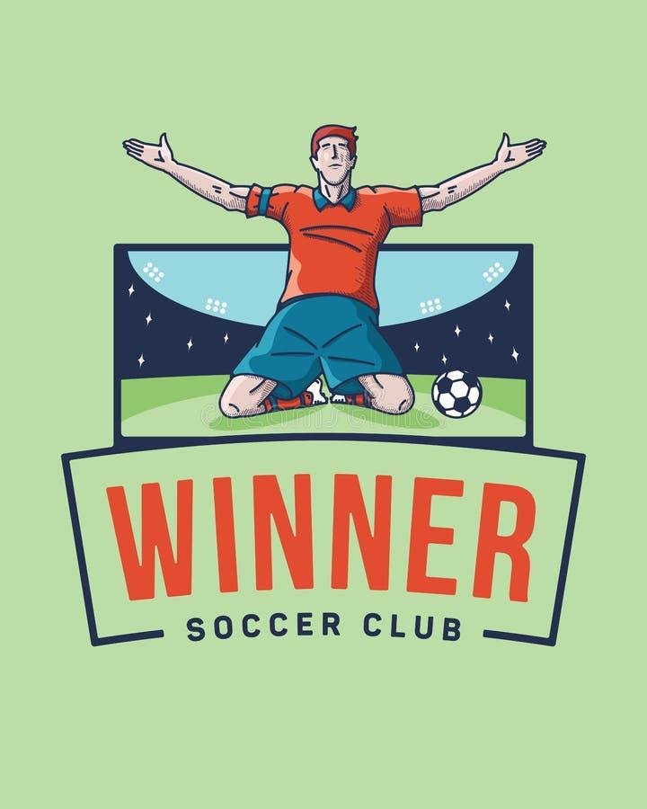El ganador del fútbol stock de ilustración