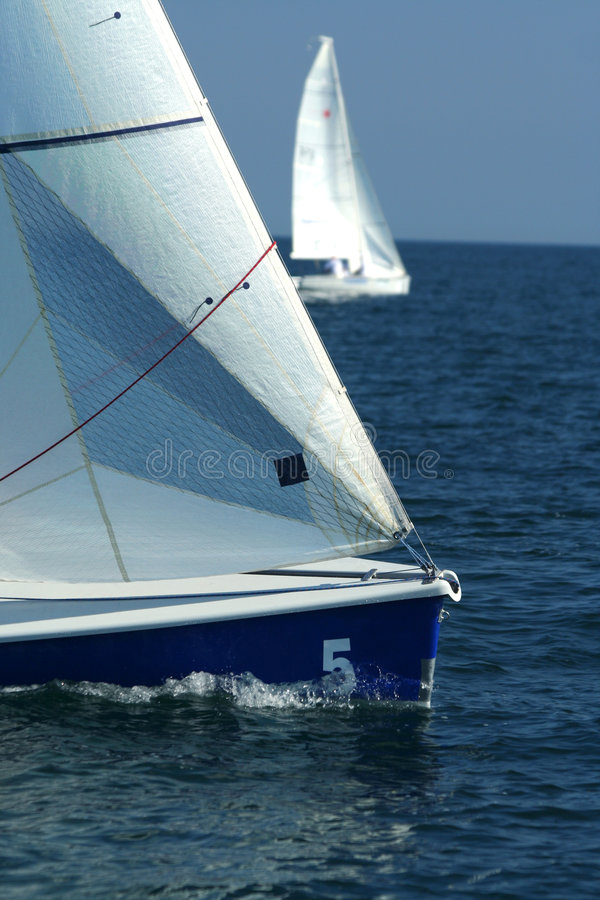 El ganador y el deporte losed/de la navegación/el regatta imagen de archivo