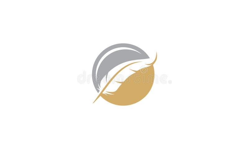 El ganso empluma el icono del logotipo del vector del negocio ilustración del vector