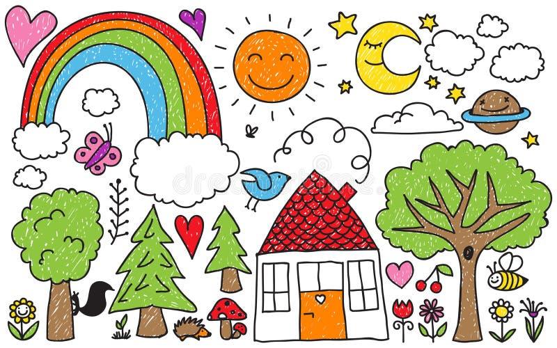 El garabato de los niños libre illustration