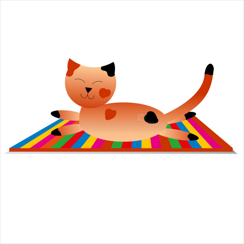 El gato feliz tiene un resto stock de ilustración
