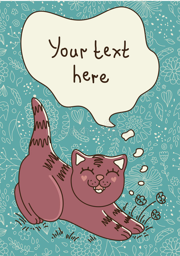 El gato smilling libre illustration