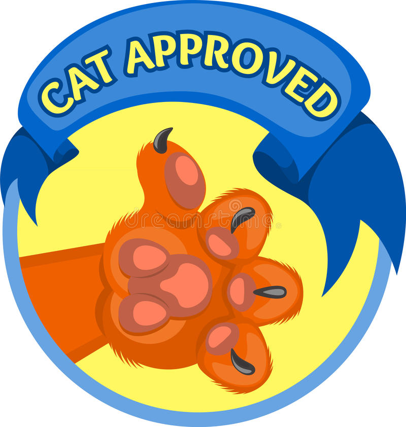 El gato tiene gusto stock de ilustración