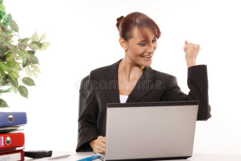 El gesticular de la empresaria foto de archivo