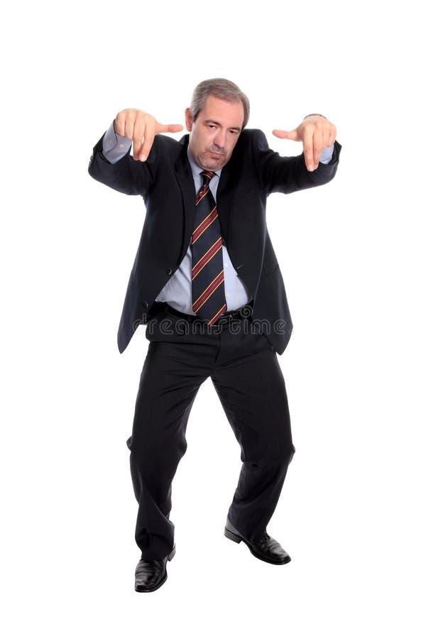 El gesticular del hombre de negocios imagenes de archivo