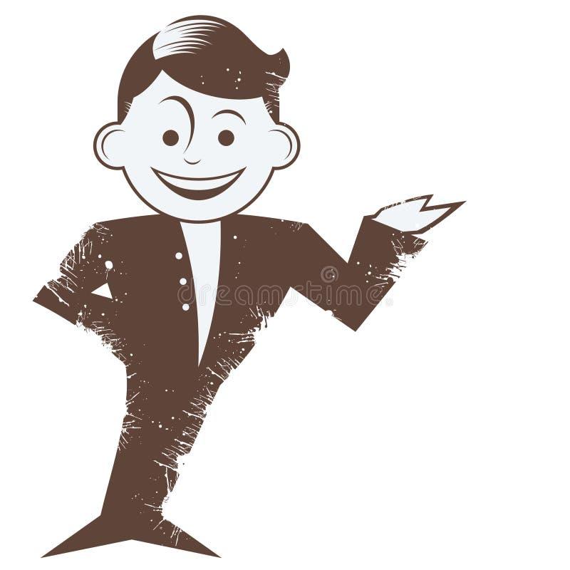 El gesticular sonriente del hombre stock de ilustración