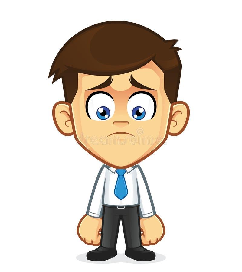 El gesticular triste del hombre de negocios ilustración del vector