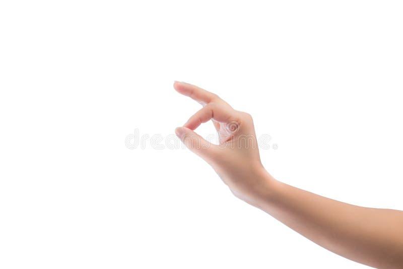 El gesto de mano aisló imagenes de archivo