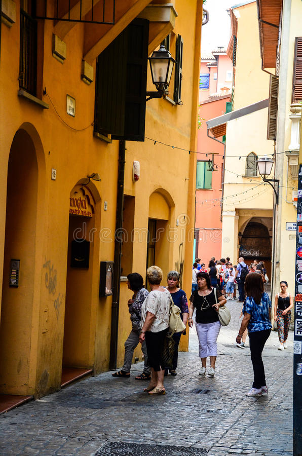 El ghetto judío anterior, Bolonia Italia foto de archivo libre de regalías