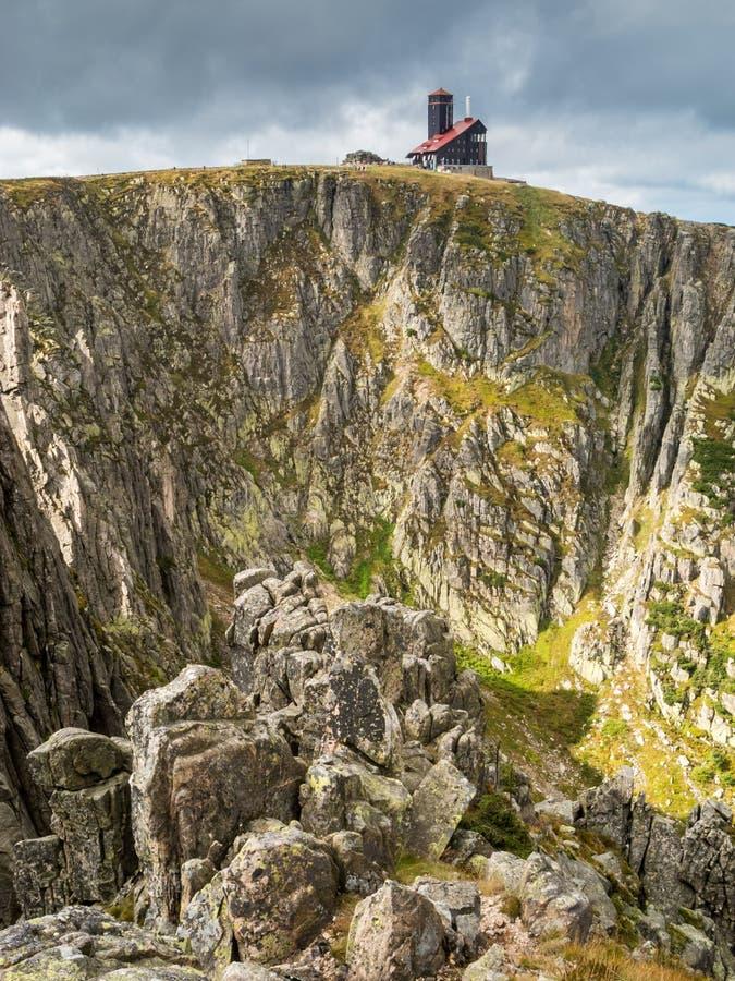 El gigante o las montañas de Krkonose fotografía de archivo libre de regalías