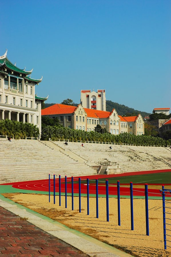 El gimnasio de la universidad imagen de archivo