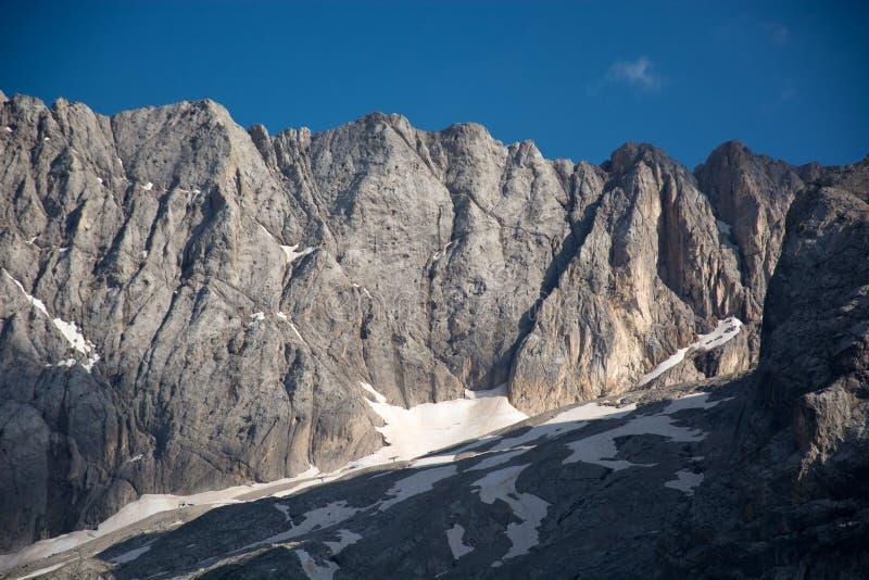 El glaciar de Marmolada, Italia foto de archivo libre de regalías
