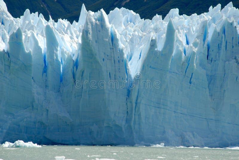El glaciar en Patagonia, la Argentina de Perito Moreno. imágenes de archivo libres de regalías