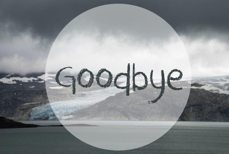 El glaciar, lago, manda un SMS adiós, paisaje hermoso Noruega imágenes de archivo libres de regalías