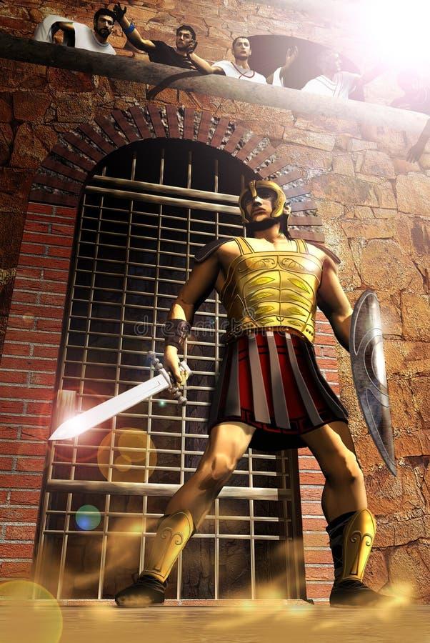 El gladiador ilustración del vector