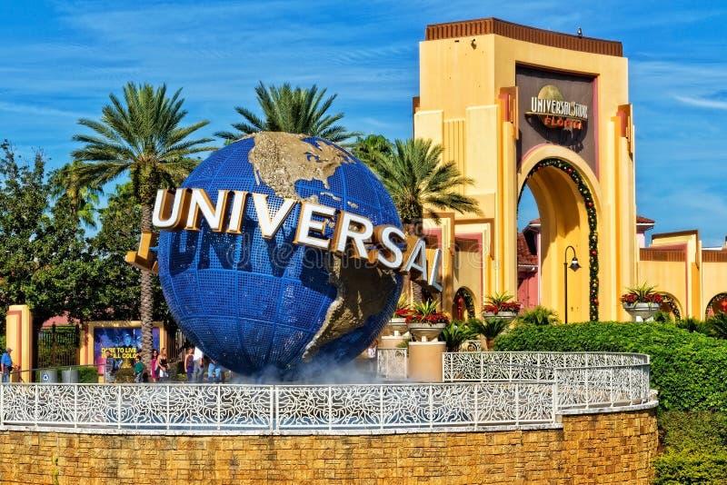 El globo de Universal Studios en Orlando Florida imagenes de archivo