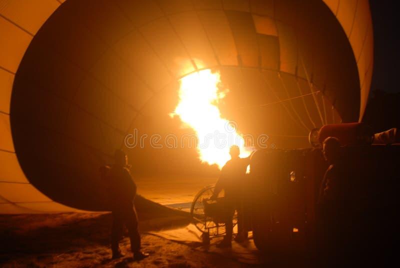 El globo del aire caliente photgrphed en el Bealton, demostraci?n de aire del circo del vuelo del VA foto de archivo libre de regalías