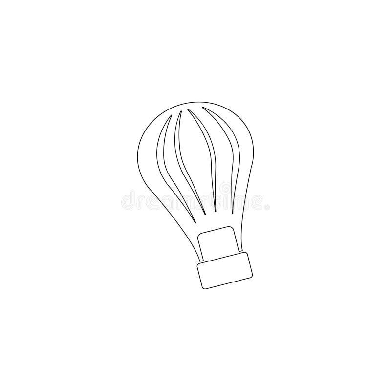 El globo del aire caliente photgrphed en el Bealton, demostraci?n de aire del circo del vuelo del VA Icono plano del vector ilustración del vector