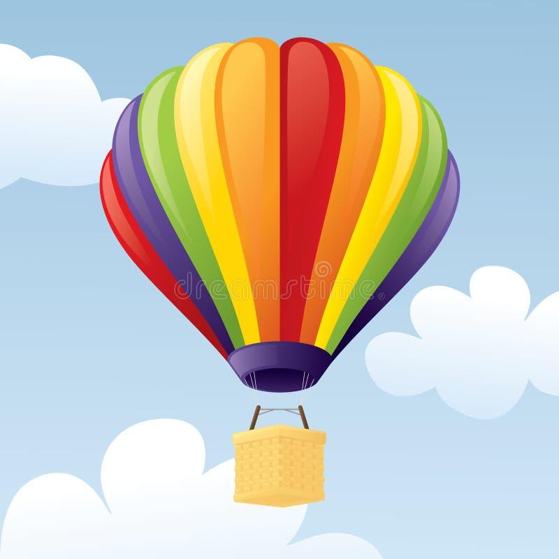 El globo del aire caliente photgrphed en el Bealton, demostración de aire del circo del vuelo del VA libre illustration