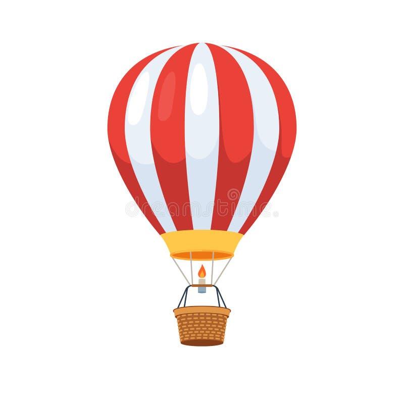 El globo del aire caliente photgrphed en el Bealton, demostración de aire del circo del vuelo del VA stock de ilustración