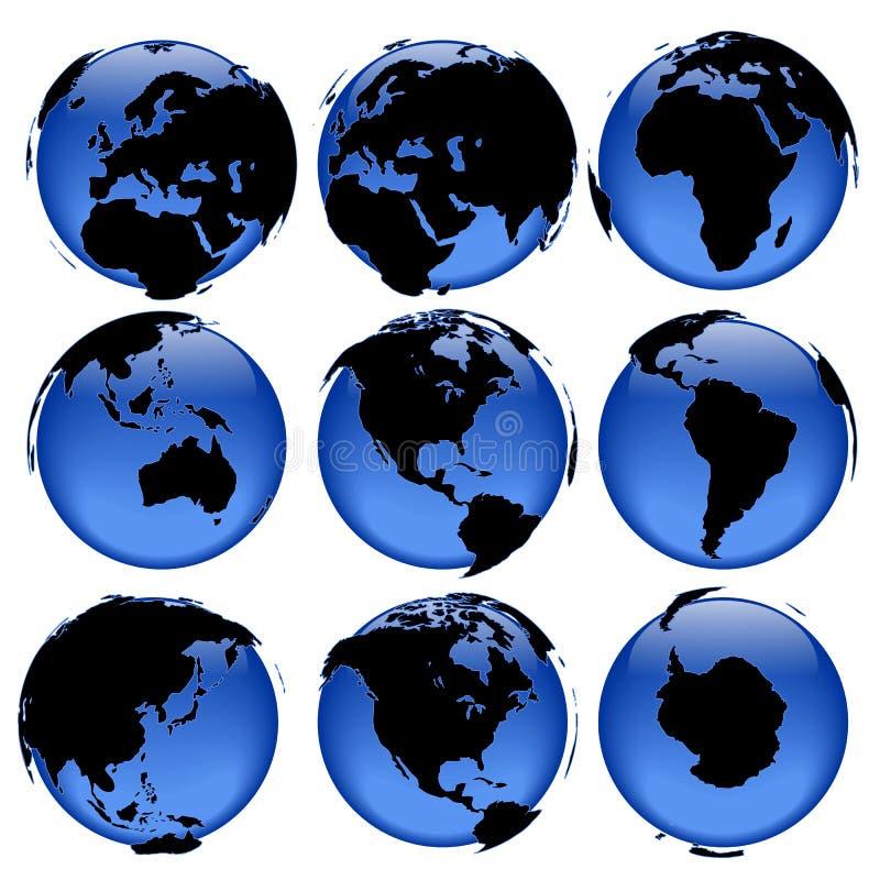 El globo ve #4 ilustración del vector